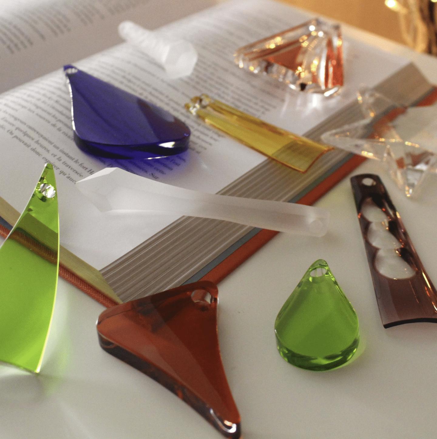 deco de noel verre coloré artisanat travail artisanal