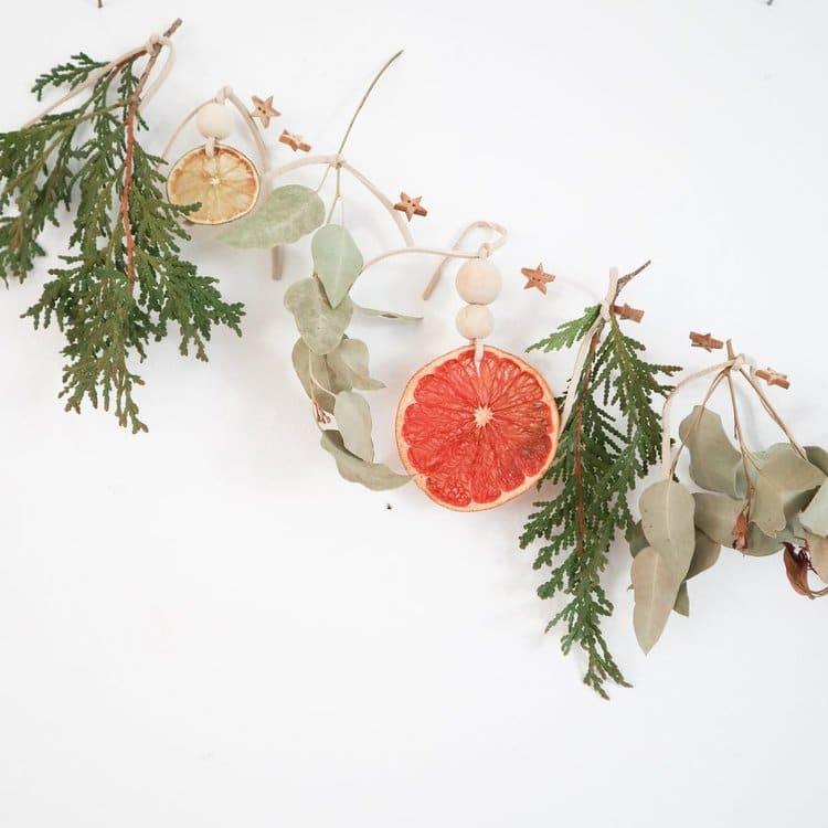 guirlande vegetale noel colorée naturelle facile zero dechet
