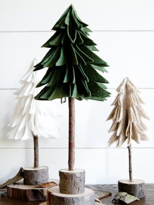sapins de noel feutre handmade artisanat a faire soi meme do it yourself