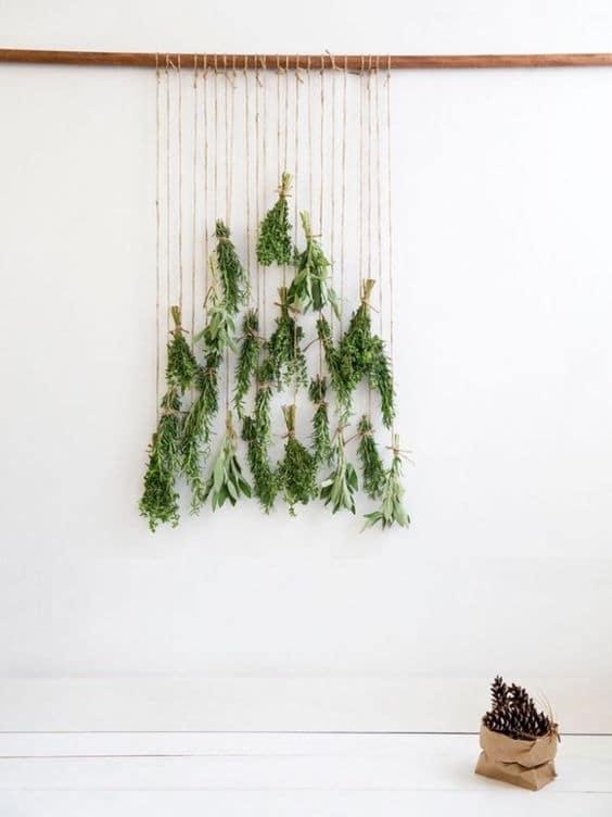 sapin de noel mural naturel facile et écologique