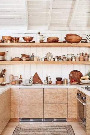cuisine bois cabane boheme ecolo design moderne actuelle