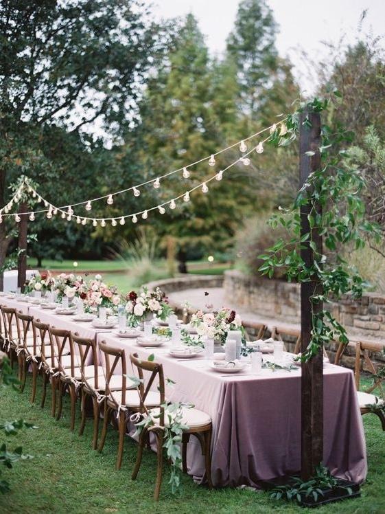 tabel de mariage guinguette simplicité naturel ecolo