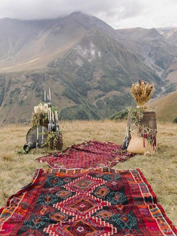 mariage laique champetre nature boheme hippie