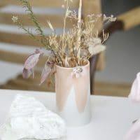 vase rose céramique artisanat made in france fleurs séchées