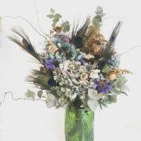 bouquet fleurs séchées violet éco-responsable écologique locale